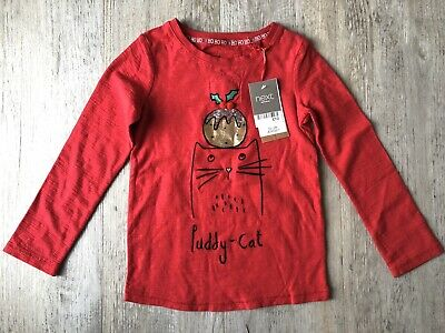 BNWT Next Girls Red Christmas Top Age 5 Years