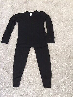 Kids Thermal Winter Underwear Long Bottoms and Top Set Age 6-8 Years