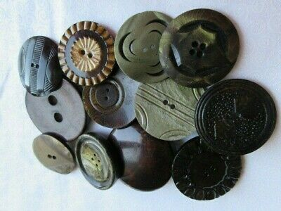 6617 – Variety of 12 Large Antique Celluloid Buttons
