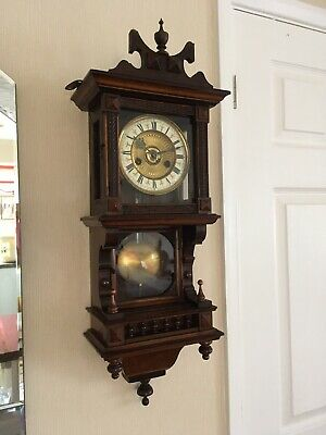 Decorative Wooden Cased HAC Wall Clock -gong Strike- Working