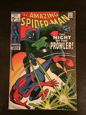 """Amazing Spider-Man #78 Nov 1969 """"The Night Of The Prowler!"""" Silver Age Marvel"""