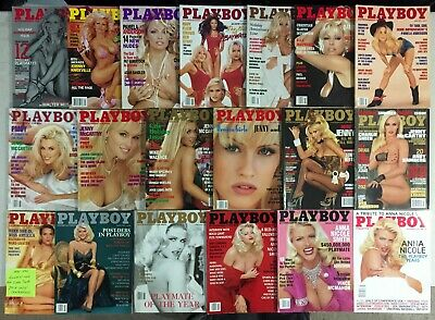 Jenny McCarthy Anna Nicole Smith Pam Anderson Playboy Magazine Cover 19 Issues