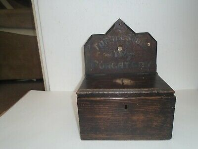 19th century wooden church collection box   FOR THE SOULS IN PURGATORY wow look