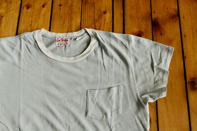 Lvc Levi's Vintage Fashion California Light Blue Ringer T-Shirt Small