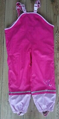 Girls Lupilu Pink Fleece Waterproof Dungarees Trousers  Lined Age 6-8 Years