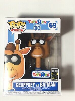 Funko Pop! Ad Icons TRU Toys R Us Excl. DC Geoffrey as Batman #69 (IN HAND!)