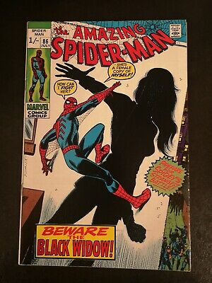 "Amazing Spider-Man #86 July 1970 ""Beware.. The Black Widow!"" Silver Age Marvel"