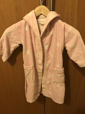 Little White Company Bath Robe, Age 2-3, Dressing Gown,