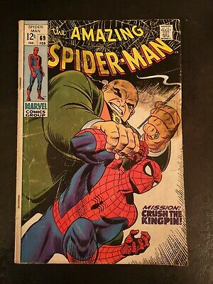 "Amazing Spider-Man #69 Feb 1969 ""Mission: Crush The Kingpin!"" Silver Age Marvel"