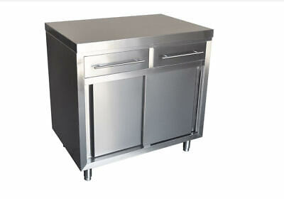 Stainless Steel Coffee Cart. with 4 castors