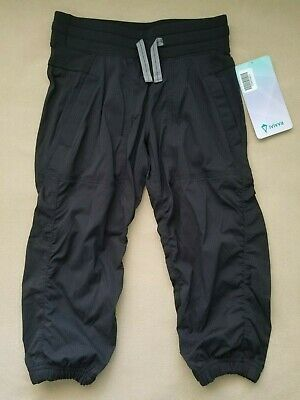 Ivivva by Lululemon Girls Live to Move Crop Active Pants Black Size 8 NWT $58