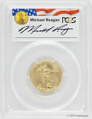 2016 $10 Gold American Eagle PCGS MS70 - Reagan Legacy Series