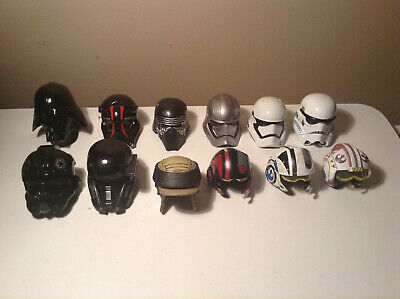 Star Wars The Black Series Titanium Mini Helmets Lot DIE CAST METAL