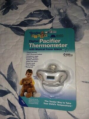 Mabis Tender Tykes Digital Pacifier Thermometer With Musical Fever Alarm NEW