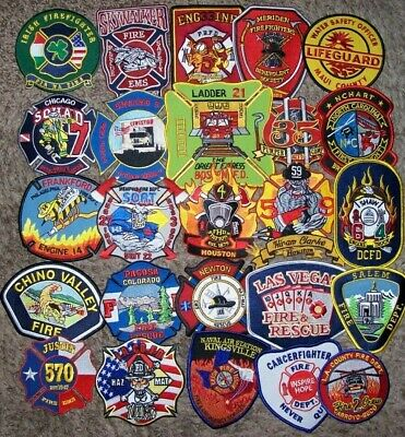 """*CLEARANCE*  Set # 46 - 25 Total Fire Patch Set  """"NO DUPLICATES IN SET"""""""