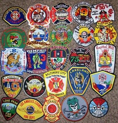 """*CLEARANCE*  Set # 50 - 25 Total Fire Patch Set  """"NO DUPLICATES IN SET"""""""