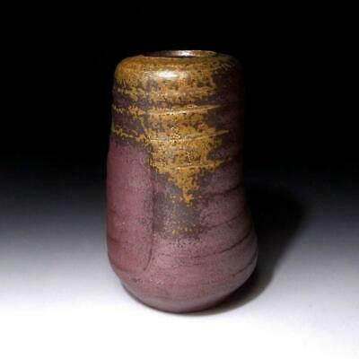 WO16 Vintage Japanese Pottery Bud Vase, Bizen ware, Height 6.5 inches