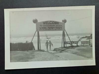 Vintage Australian PHOTOGRAPH- Greenmount Beach, Home of Hokey Pokey Sign c1950s