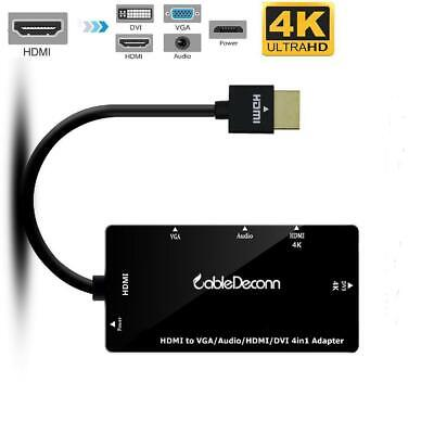 HobbyLane New 4 in1 HDMI Splitter HDMI to VGA DVI Audio Video Cable Multiport Ad