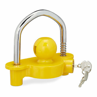 Hitch Lock Trailer Ball Anti-theft Security Coupling Lock Coupler Box Lock Steel