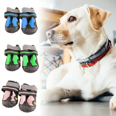 4Pcs Waterproof Pet Shoes Winter Dog Cat Snow Boots Warm Puppy Booties
