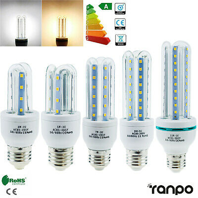 E27 Energy Saving LED Corn Bulb 3W 5W 7W 9W 12W 2835 SMD Light White Home Lamp T