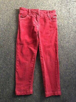 Crew Clothing Cords Trousers Corduroy Girls Pink Age 4
