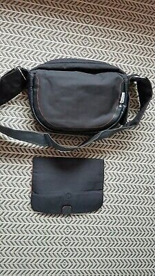 Bugaboo nappy bag black with leather trim