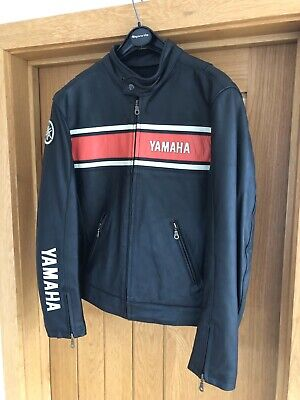 Genuine Yamaha Leather Motorcycle Jacket Medium