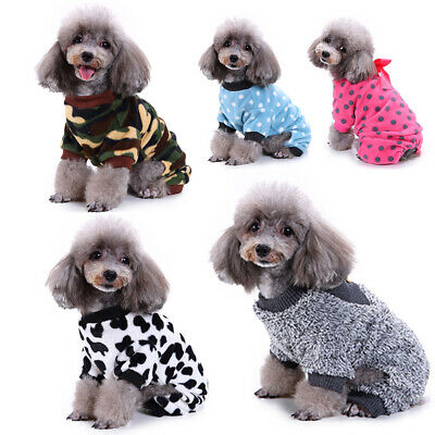 Winter Pet Puppy Dog Coats Chihuahua Clothes Printed Hoodie Warm For Small Dog