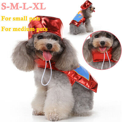 Puppy Pet Dog Christmas Clothes Hoodie Warm Xmas Sweater Coat Costumes Apparel