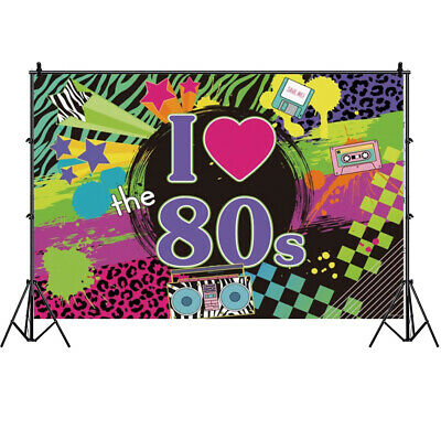 80's Photography Backdrop Adult Birthday Party Photo Background Hip Pop  Prop