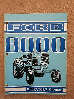 Ford 8000 Tractor Operators Manual
