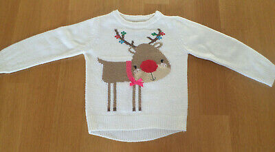 Girls Christmas Jumper Age 4-5 Years From Mothercare