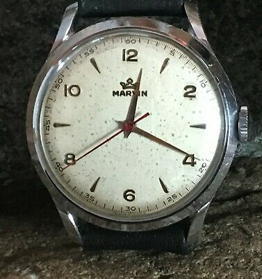 Vintage 'Marvin' manual wrist watch. 15 Jewel, 3 adj movement.