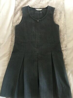 Girls M&S Grey School Pinafore Dress Age 6