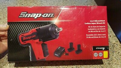"NEW SNAP ON 14.4 V 3/8"" Dr. MicroLithium Cordless Impact Wrench Kit #CT761AHVK2"