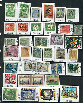 Commonwealth Africa Mix X 26 All Different Higher Value Stamps  Used Lot Ah