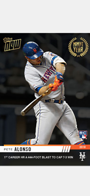 2019 TOPPS NOW MOMENT OF THE YEAR ROOKIE CARD METS PETE ALONSO #MOY-10 1st HR