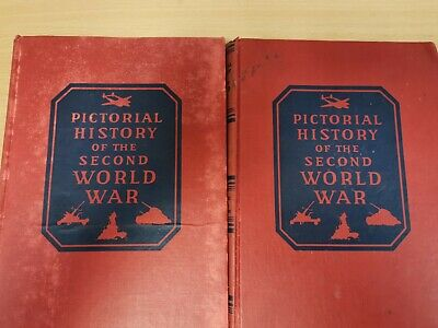 PICTORIAL HISTORY OF THE SECOND WORLD WAR 1944 Volumes 1 & 2 1944 (Hospice)