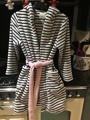 Girls Joules Striped Dressinggown Age 11-12 Years