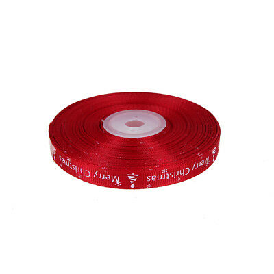 25yards/Roll Satin Ribbon Gift Wrapping Merry Christmas Happy New Year Craf D_X