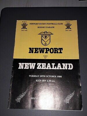1980 Newport V New Zealand All Blacks International Tour Rugby Union Programme