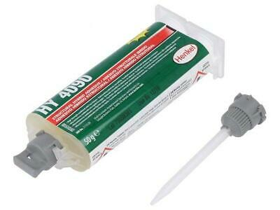 LOC-HY4090-50 Hybrid glue white gel syringe with A and B components  LOCTITE