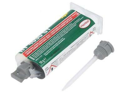 LOC-HY4090GY-50 Hybrid glue grey gel syringe with A and B components  LOCTITE