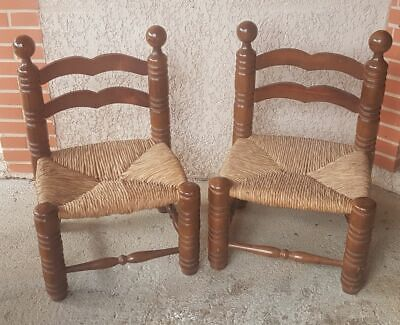 Pair of chairs basses mulched art déco attributed to Charles Dudouyt