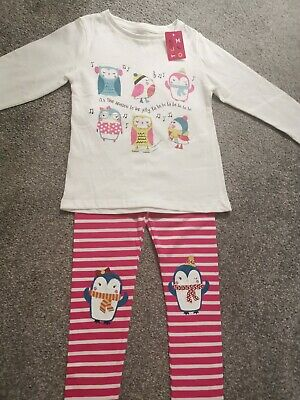 Girls Xmas Top & Leggings Outfit Age 3-4 Yrs Bnwt
