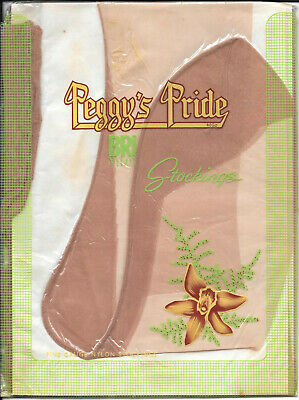 Vintage Peggy's Pride seamed nylons stockings sz 10