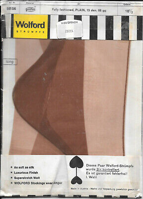 Vintage Wolford  seamed nylons stockings sz 10 1/2