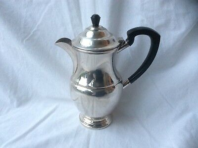MAPPIN & WEBB Mappin Plate Coffee Pot with Bakelite Handle - Silver on Copper